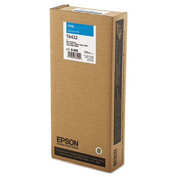 Epson T642, 150 ml Cyan UltraChrome HDR Ink Cartridge
