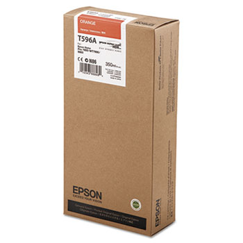 Epson T596, 350 ml Orange UltraChrome HDR Ink Cartridge