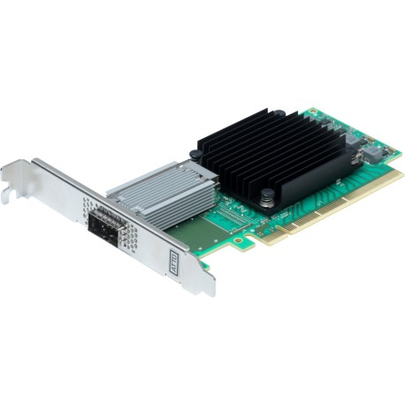 ATTO FastFrame™ 3 N311 - Single-port direct attach 25/40/50/100GbE Ethernet NIC.