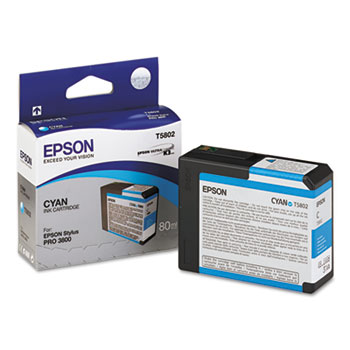 Epson T580, 80 ml Cyan UltraChrome K3 Ink Cartridge