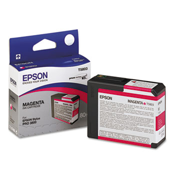 Epson T580, 80 ml Magenta UltraChrome K3 Ink Cartridge