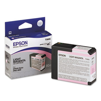 Epson T580, 80 ml Light Magenta UltraChrome K3 Ink Cartridge