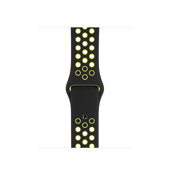 40mm Black/Volt Nike Sport Band - S/M & M/L