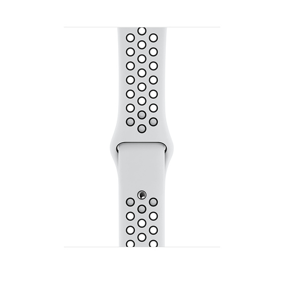 44mm Pure Platinum/Black Nike Sport Band - S/M & M/L