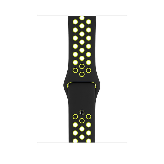 44mm Black/Volt Nike Sport Band - S/M & M/L