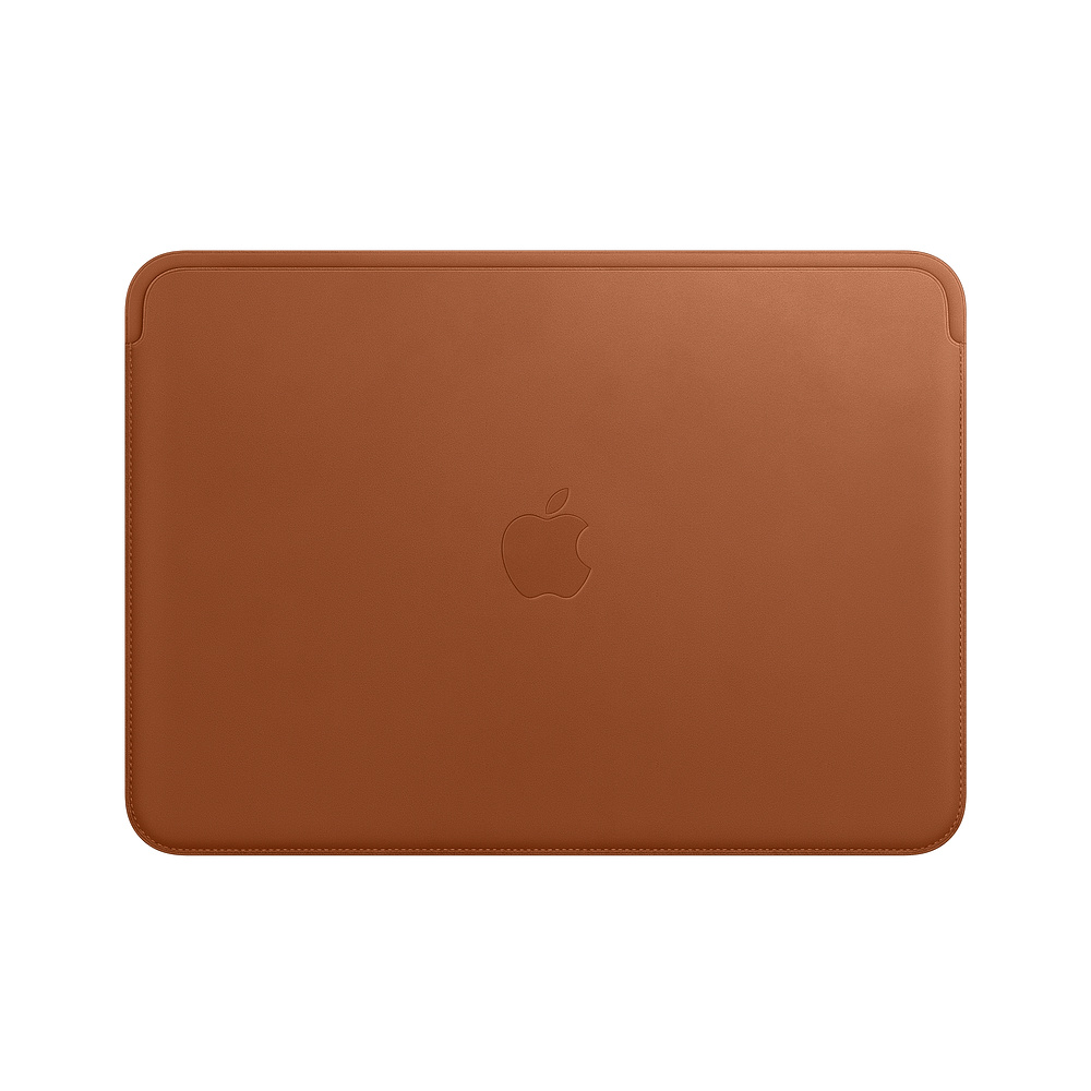 Leather Sleeve for 12?inch MacBook - Saddle Brown