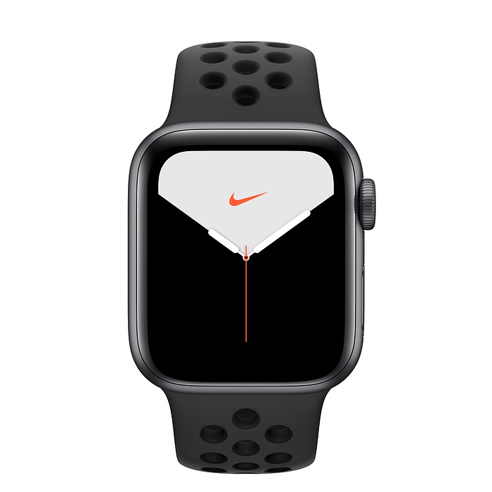 Apple Watch Nike Series 5 GPS, 40mm Space Gray Aluminum Case with Anthracite/Black Nike Sport Band - S/M & M/L