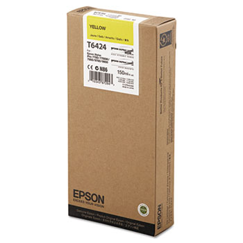 Epson T642, 150 ml Yellow UltraChrome HDR Ink Cartridge