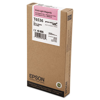 Epson T653, 200 ml Vivid Light Magenta UltraChrome HDR Ink Cartridge