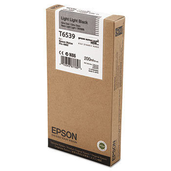 Epson T653, 200 ml Light Light Black UltraChrome HDR Ink Cartridge