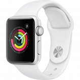 Apple Watch Series 3 38mm Silver Aluminum Case with White Sport Band (GPS Only)