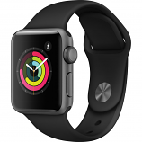 Apple Watch Series 3 38mm Space Gray Aluminum Case with Black Sport Band (GPS Only)