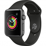 Apple Watch Series 3 42mm Space Gray Aluminum Case with Black Sport Band (GPS Only)