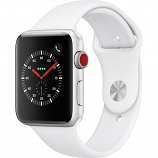 Apple Watch Series 3 42mm Silver Aluminum Case with White Sport Band (GPS + Cellular)