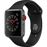 Apple Watch Series 3 42mm Space Gray Aluminum Case with Black Sport Band (GPS + Cellular)