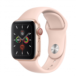 Apple Watch Series 5 GPS + Cellular, 40mm Gold Aluminum Case with Pink Sand Sport Band - S/M & M/L