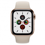 Apple Watch Series 5 GPS + Cellular, 44mm Gold Stainless Steel Case with Stone Sport Band - S/M & M/L
