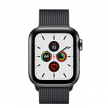 Apple Watch Series 5 GPS + Cellular, 40mm Space Black Stainless Steel Case with Space Black Milanese