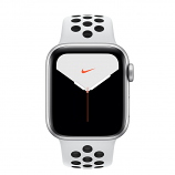 Apple Watch Nike Series 5 GPS, 40mm Silver Aluminum Case with Pure Platinum/Black Nike Sport Band - S/M & M/L