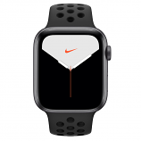 Apple Watch Nike Series 5 GPS, 44mm Space Gray Aluminum Case with Anthracite/Black Nike Sport Band - S/M & M/L