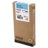Epson T653, 200 ml Light Cyan UltraChrome HDR Ink Cartridge