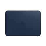 Leather Sleeve for 12?inch MacBook - Midnight Blue